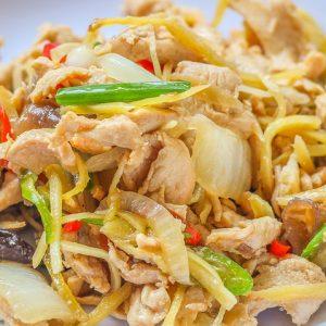 Thai food pepper hot ginger