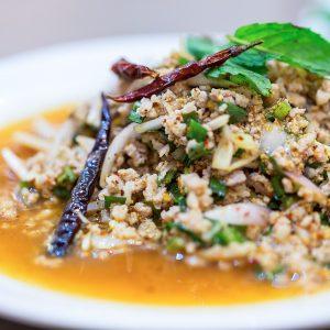Most popular spicy Thai food salad.