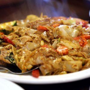 Also know as Drunken noodle. Popular Thai dish.