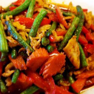 Authentic Thai spicy dish.