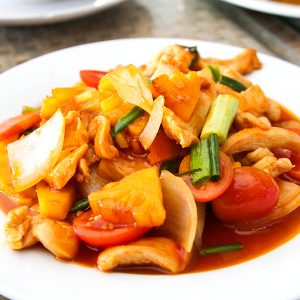 Thai style sweet and sour. Good with any kinds of meat.