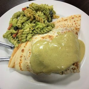 Rich and Creamy green curry crepe