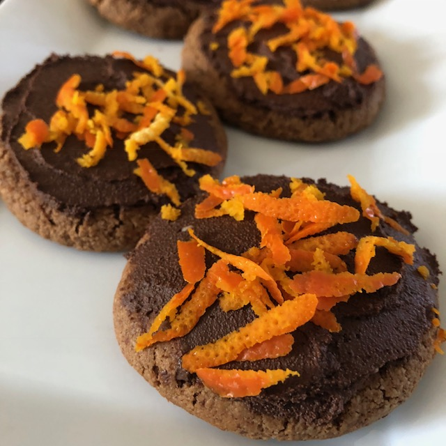 Double Chocolate and Orange Cookies