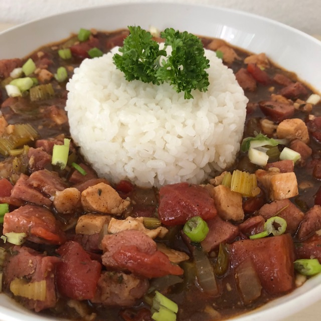 Chicken-Sausage Gumbo: With a Homemade Creole Seasoning Blend!