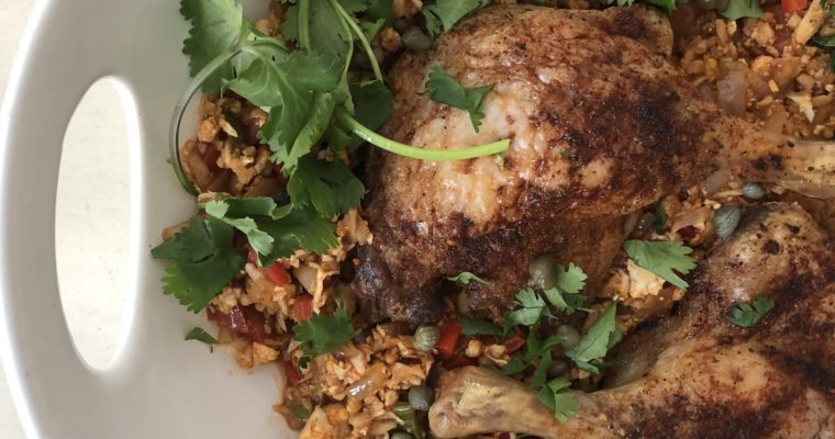 Cauliflower Arroz con Pollo (with duck!)