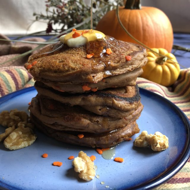 Welcome to #Choctoberfest and Paleo Pumpkin Pancakes!