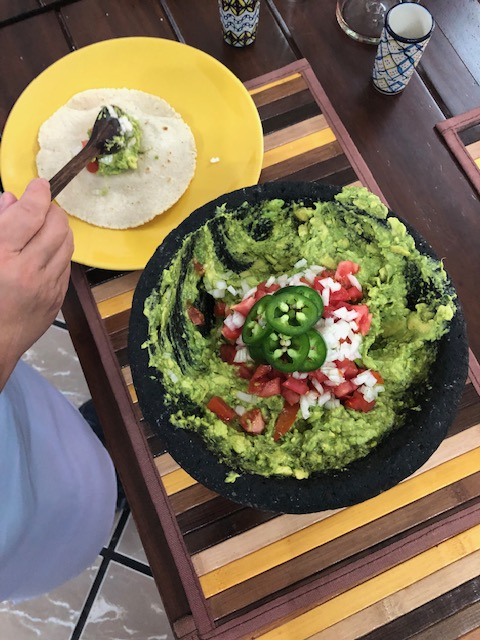Guacamole making