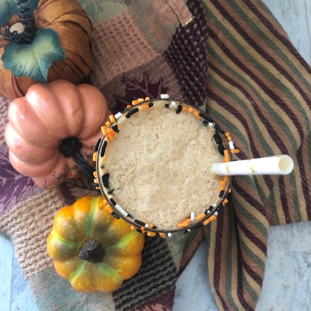 Dairy Free Iced Coconut Pumpkin Lattes
