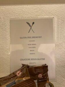 Gluten free at Hotel Adriano