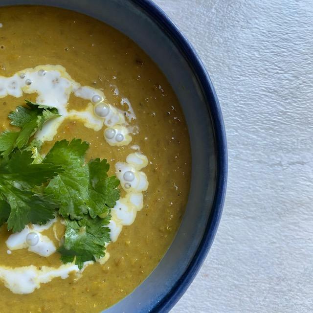 Slow Cooker Coconut Curry Lentil Soup
