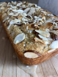 Gluten free almond poppyseed bread