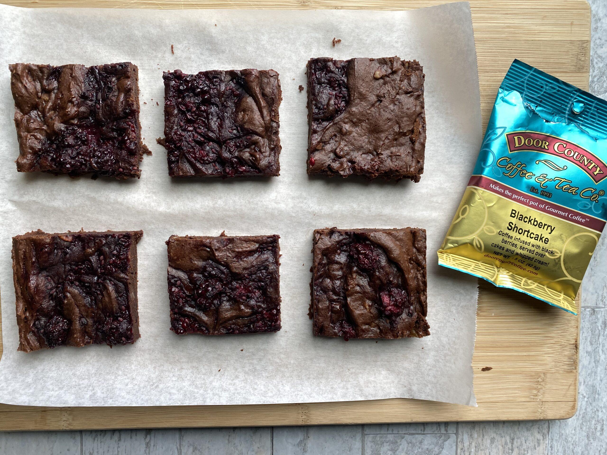 Gluten Free Blackberry Mocha Brownies – #SpringSweetsWeek
