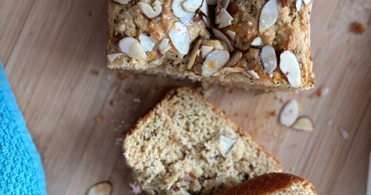 Gluten Free Almond Poppyseed Bread- #SpringSweetsWeek
