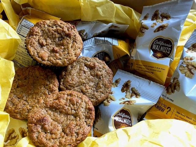 Grain Free Banana Walnut Muffins