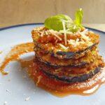 Eggplant Parmesan stack
