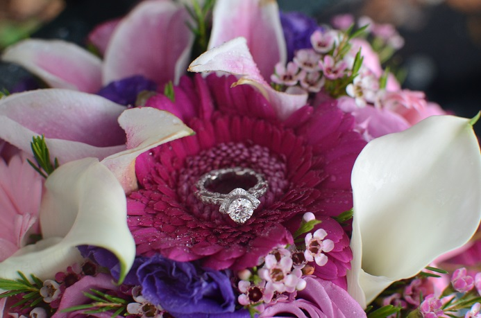 Colorful Bouquet | Wedding Ring