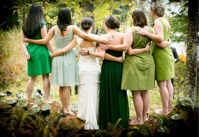 VT-Lakeside-Forest-Wedding-Green-Bridesmaid-Dresses