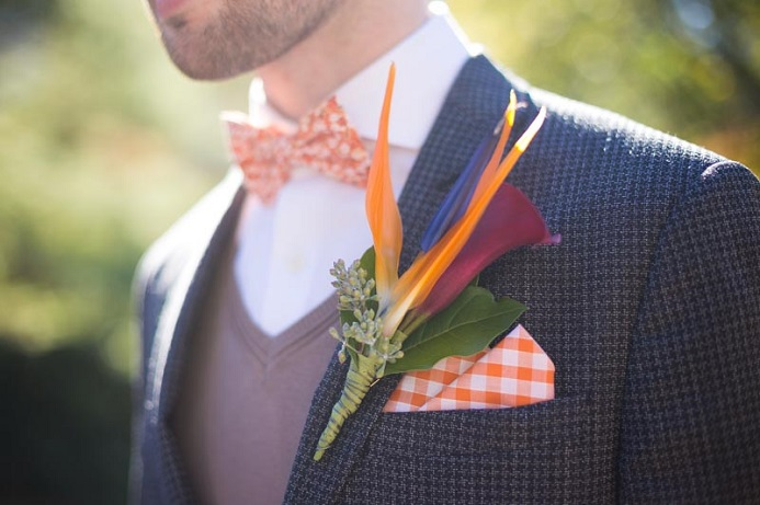 Bird of paradise boutonniere