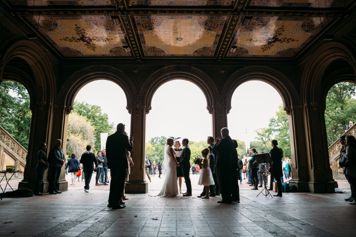 Wedding Ceremony Under the Arches Bethesda Fountain Central Park
