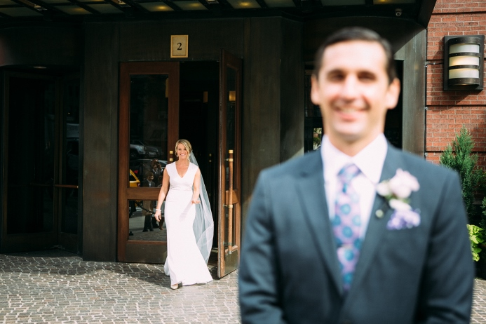 Bride sees Groom For First time outside Hotel