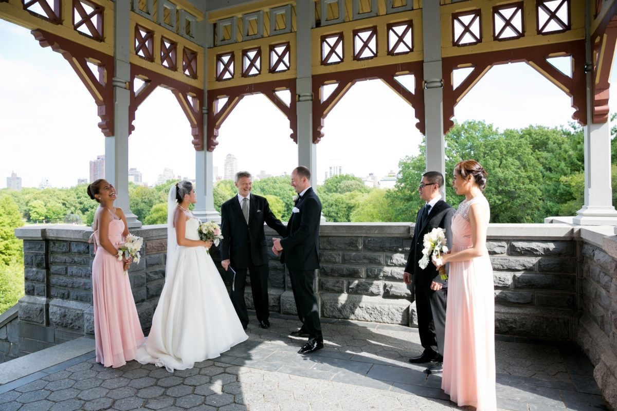 Intimate ceremony at Belvedere Castle Terrace