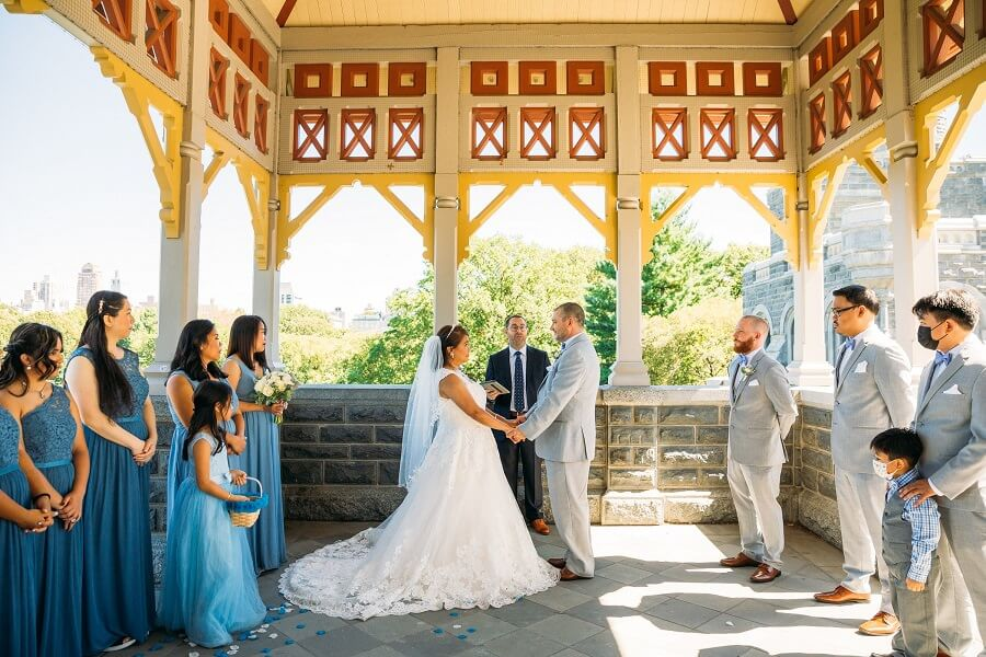 Couple gets married at Belvedere Castle Terrace