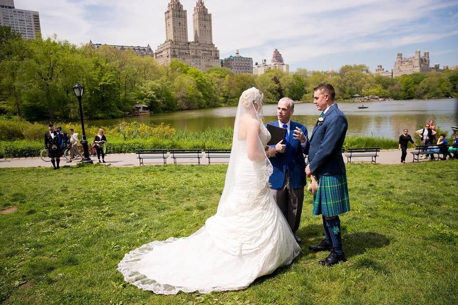 Scottish couple holds intimate wedding on Cherry Hill