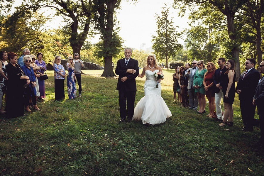 Dad walks bride down aisle on Cherry Hill