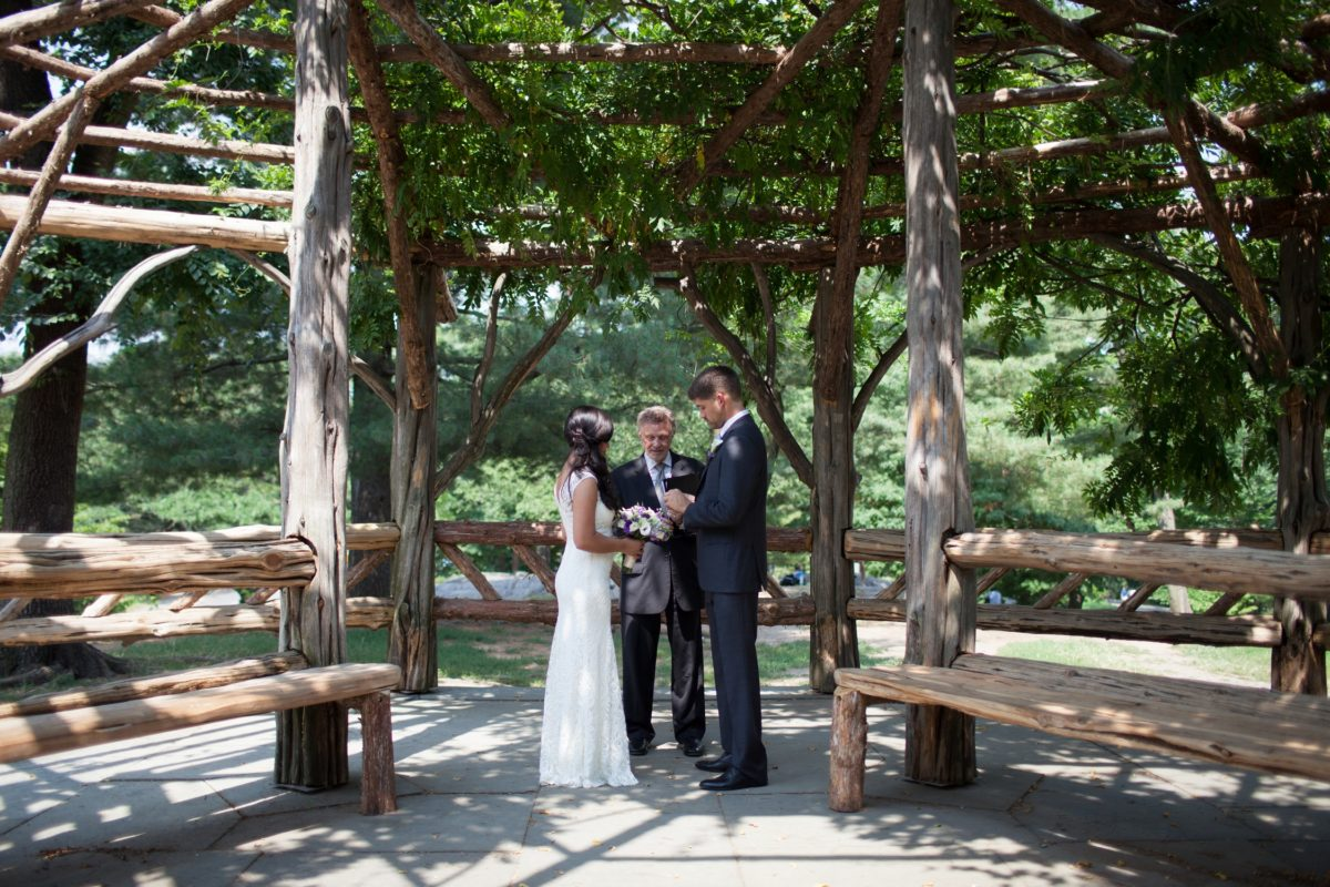 Couple elopes in Cop Cot Central Park