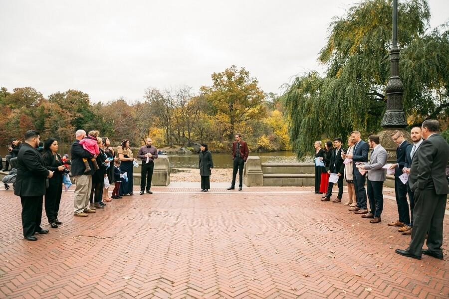 Bethesda Fountain, Central Park Wedding Aisle Setup