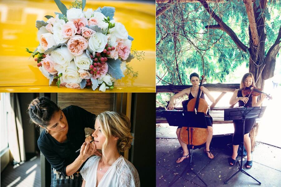 Add-on Services for Wedding Packages Hair and Makeup Musicians Premium Bridal Bouquet