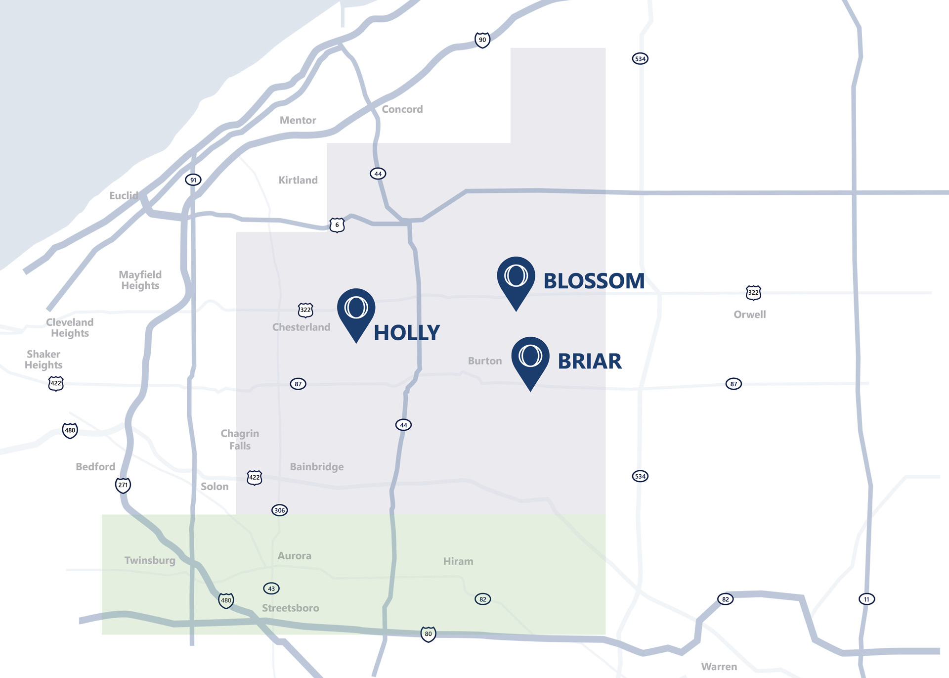 Ohman Family Living map