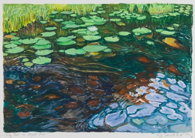"Lily Pads on Osgood Pond 13"" x 18"""