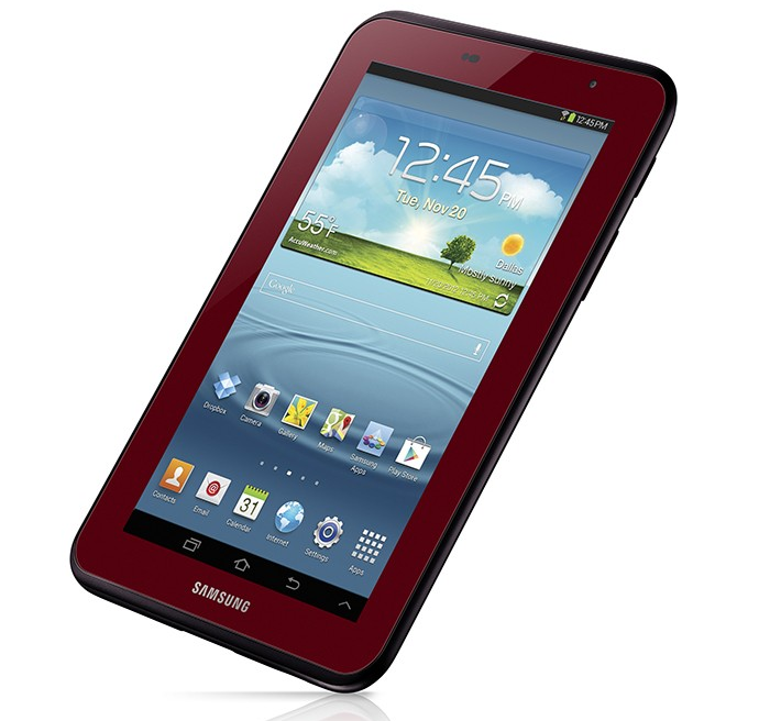 Garnet Red Samsung Galaxy Tab 2 7.0 Available for a Limited Time
