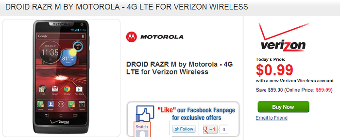 Wirefly Offering Great Deals on the Motorola DROID RAZR M and RAZR MAXX HD [Deal Alert]
