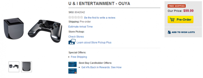 OUYA on its way to Best Buy, Gamestop, Target, and Amazon for $99.99