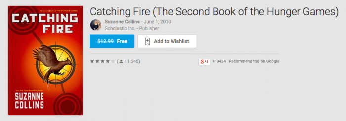 Deal: Catching Fire (Book), Free on the Play Store