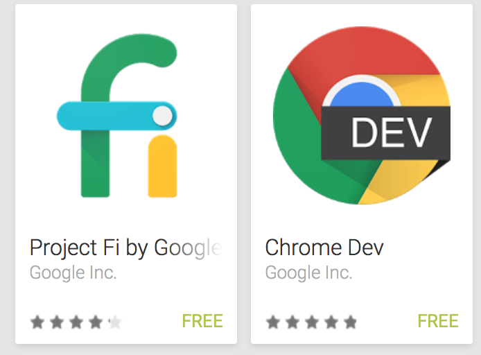 Google Releases 3 New Apps In the Play Store: Chrome Dev, Project Fi, and Connectivity Services