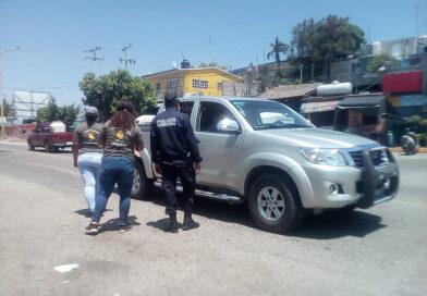 Interceptan a turistas en filtro de control sanitario en Marquelia