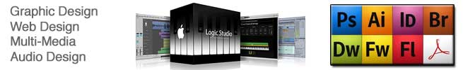 Graphics and Audio Design programs: Logic Pro X, Adobe Creative Cloud