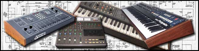 Syndrome Sounds Version 1: Sequential Circuits Drum machine and six-track  keyboard, Korg Poly 6.