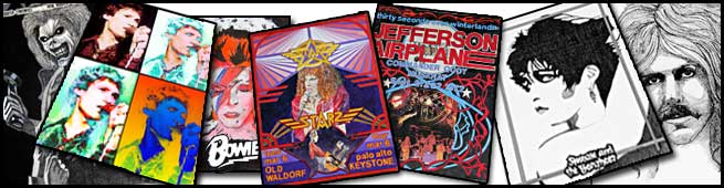 Posters - Jefferson Airplane, Siouxie & the Banshees, Jay Ferguson, Starz, Bowie, Iron Maiden, Soft Cell
