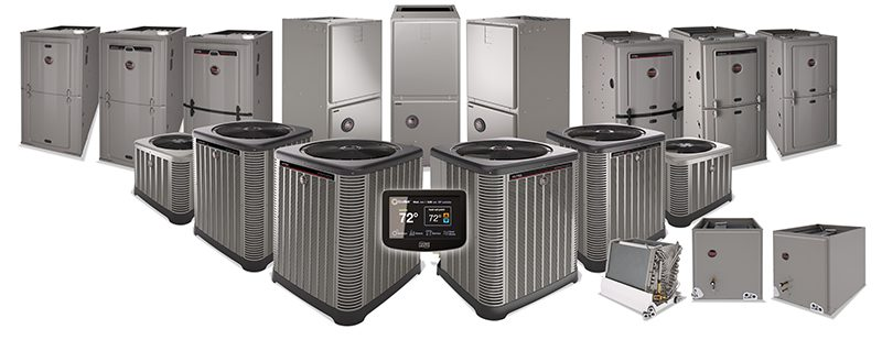 A group of AC units ready to be installed for AC replacement in Katy, TX