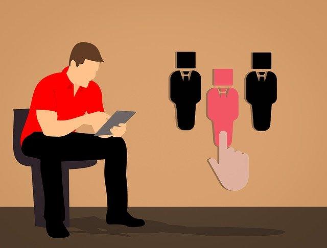 hiring process off tablet