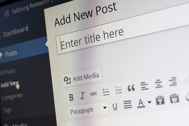 WordPress blog section