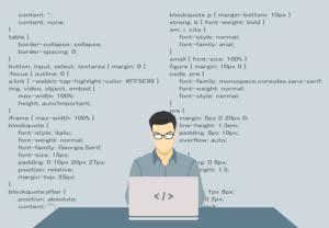 programmer coding a website