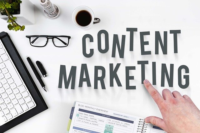 content marketing on table