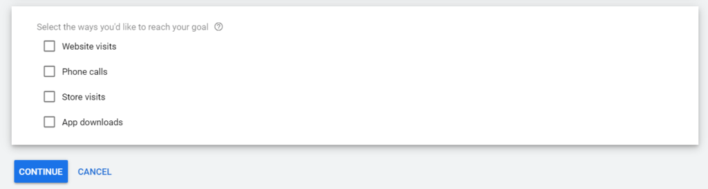 Google Ad Conversion tracking goal