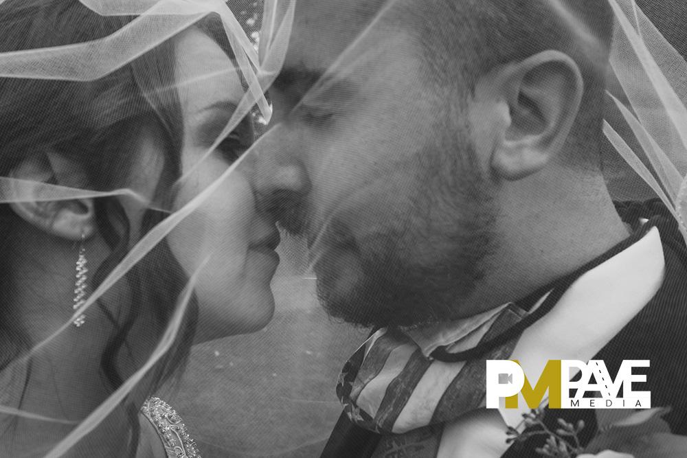 Michaela and Tiernan Kissing