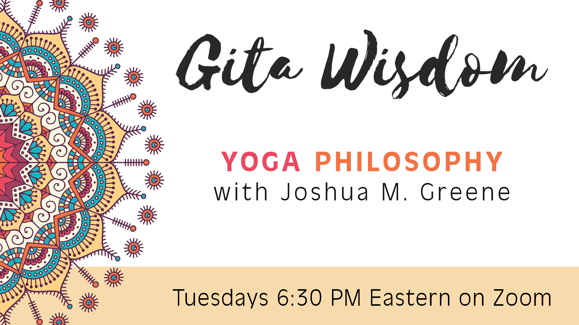 Weekly Gita Classes 6:30-7 EDT